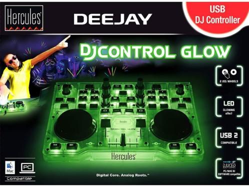 table de mixage usb hercules dj control glow avec jog. Black Bedroom Furniture Sets. Home Design Ideas