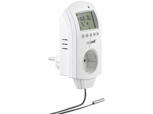 thermostat electronique avec prise pour climatiseur et radiateur electrique