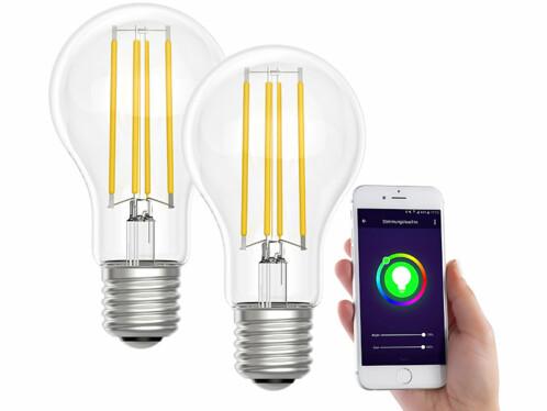2 ampoules LED connectées LAV-150.t E27- A60- 7W- Blanc neutre