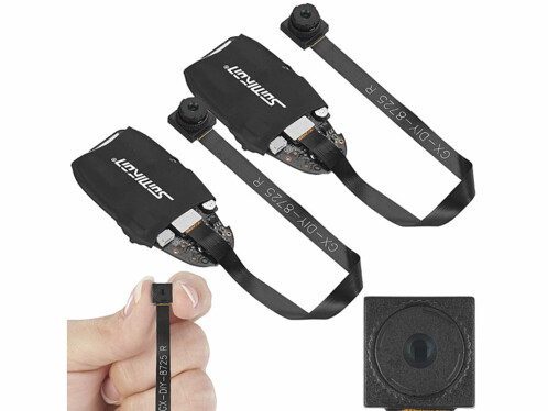 Lot de 2 micro caméras Full HD sans fil avec microphone DV-310.mini Somikon.