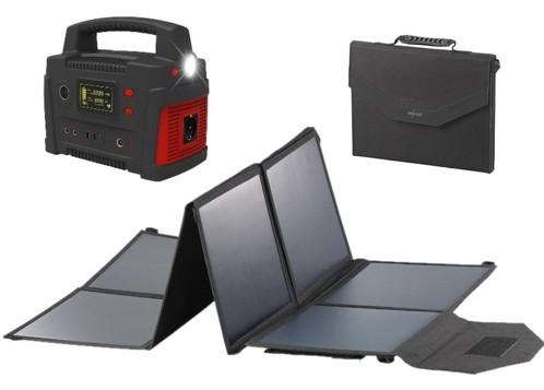 Batterie nomade HSG-900 avec panneau solaire pliable 100 W Revolt.