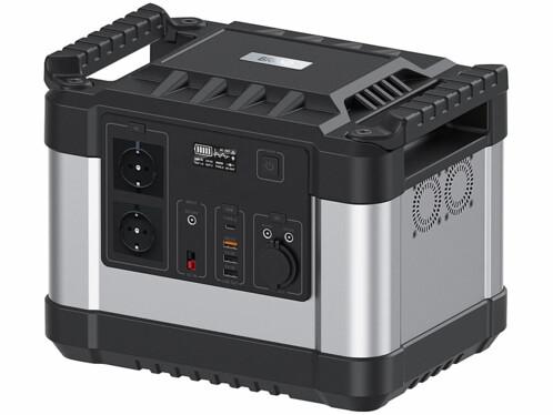 Batterie nomade et convertisseur solaire HSG-1100 avec une capacité de 300 Ah.