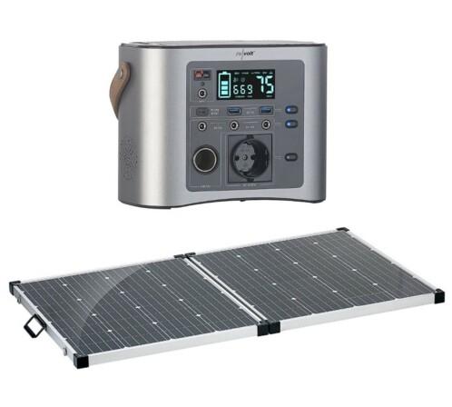 Batterie nomade et convertisseur solaire HSG-650 avec alimentation solaire 160 W