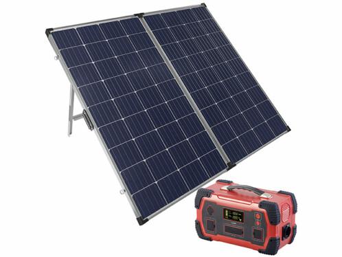 Lot avec un panneau solaire 260 W avec une batterie nomade 1000 W Revolt.