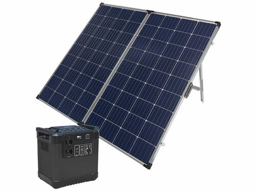 Batterie nomade HSG-1150 avec panneau solaire pliable 260 watts.