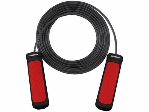 Corde à sauter connectée avec capteur de fréquence cardiaque et compteur de sauts.