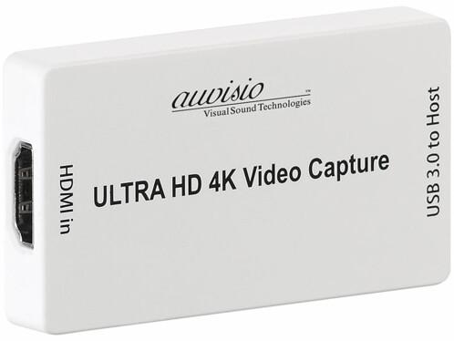 Enregistreur vidéo HDMI et boîtier de streaming 4K GC-400 Auvisio.