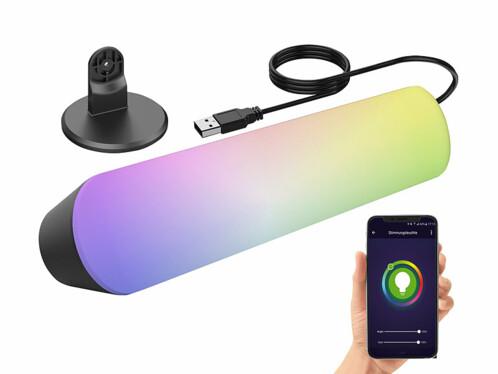 Lampe d'ambiance USB à LED RVB CCT contrôlable par application mobile.