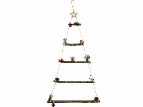 Décoration de Noël à suspendre : échelle en forme de sapin.