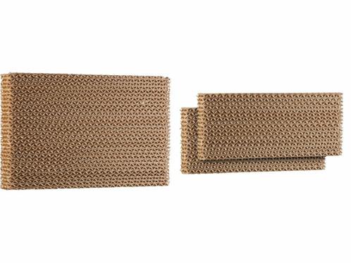 Un grand filtre et deux petits filtres en nid d'abeilles pour rafraîchisseur d'air LW-540 Sichler Haushaltsgeräte.