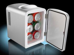 Mini réfrigérateur 2 en 1 avec prise 12 / 230 V - Gris