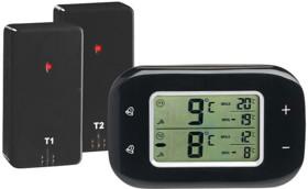 Thermomètre digital sans fil pour réfrigérateur et congélateur avec 2 capteurs