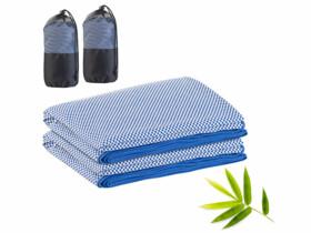 2 serviettes en fibres de bambou 200x 80cm