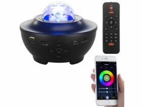 """Projecteur laser """"ciel étoilé"""" connecté avec haut-parleurs"""