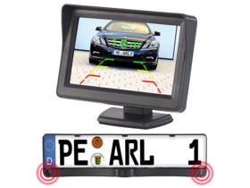 Caméra d'aide au recul avec support de plaque - Avec écran sans fil