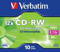CD-RW Verbatim à enregistrement rapide (x10)