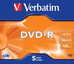 DVD-R Verbatim 4,7 Go (x5)