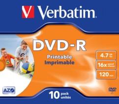 DVD-R Verbatim AZO Printable 4,7 Go (x10)