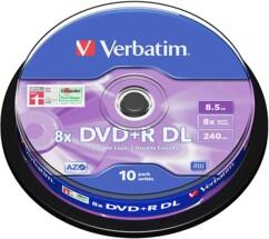 DVD+R Verbatim Double couche 8,5 Go (x10)