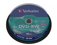 DVD-RW Verbatim Spindle 4,7 Go (x10)