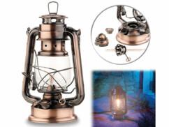 """Lampe-tempête rétro à pétrole 24 cm """"Anika"""" - aspect Bronze"""