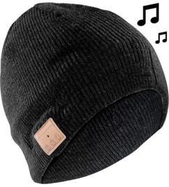 Bonnet ''Beanie'' Bluetooth avec micro-casque intégré - noir