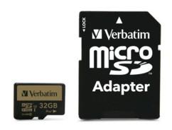 Carte micro SDHC Verbatim Pro+ - 32 Go