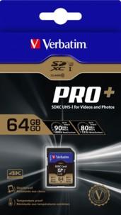 Carte SDXC Pro+ 64 Go