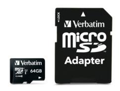 Carte micro SDXC avec adaptateur SD - 64 Go