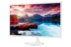 ecran moniteur led 32 pouces samsung LS32F351FUUXEN ultra fin couleur blanc sorties hdmi