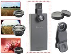 Lentilles grand angle, fish-eye et macro pour smartphone