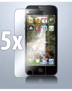 5 films protecteurs transparents pour écran iPhone 5 / 5S / 5C / SE