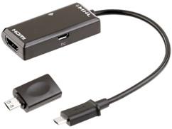 Adaptateur MHL Micro-USB vers HDMI Full HD avec télécommande
