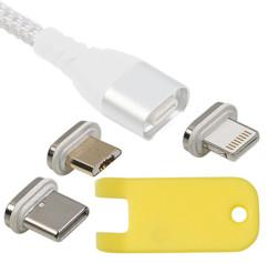 set de 3 adaptateurs magnetiques pour cable de chargement magnetique micro usb usb c lightning ldk100 callstel