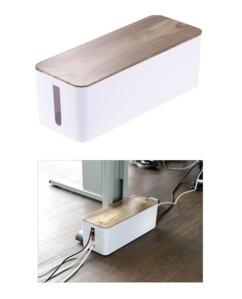 Boîte à câbles - Aspect bois de Noyer - 39 cm