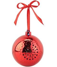 Boule de Noël avec bluetooth et haut-parleur intégré - Rouge