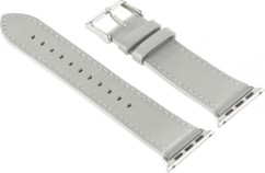 Bracelet en cuir pour Apple Watch - 38 mm - Gris