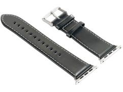 Bracelet en cuir pour Apple Watch - 38 mm - Noir