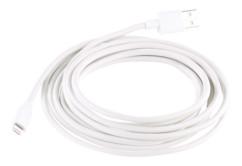 cable lightning certifié MFI blanc 3 m