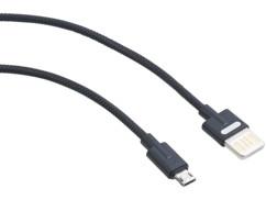 Câble USB 2.0 vers Micro USB, connexion double sens, 100 cm