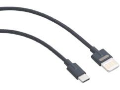 cable usb 2.0 vers usb type c avec fiche double sens et cable tressé callstel