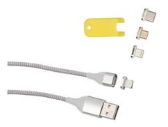 Câble USB magnétique 1m pour recharge et transfert LDK-100 - Avec 4 connecteurs
