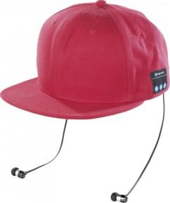 Casquette Snapback avec casque Bluetooth - Rouge