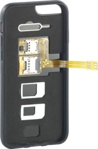 Coque de protection et triple adaptateur SIM 2 en 1 pour iPhone 6