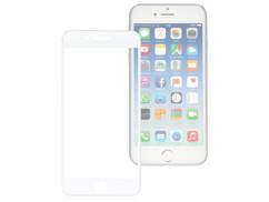 façade de protection en verre trempé 9h asahi sans cadre extra fin pour iphone 7 plus blanc
