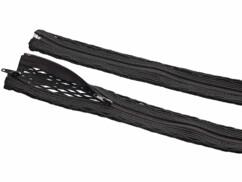Gaine souple pour câbles avec glissière - 1 m
