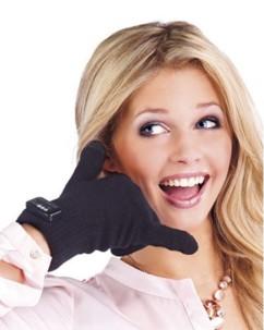 Gants femme pour smartphones avec bluetooth
