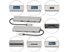 Hub USB-C et adaptateur PC 60W compatible avec Samsung DeX