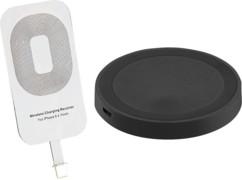 Kit chargement à induction compatible Qi pour iPhone 5C, 5S, SE, 6/Plus, 7/plus