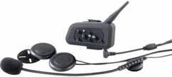 Kit de 2 micros-casques intercom avec bluetooth pour casque de moto